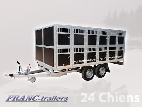Remorque Franc Trailers : jusqu'à 24 chiens sur deux étages