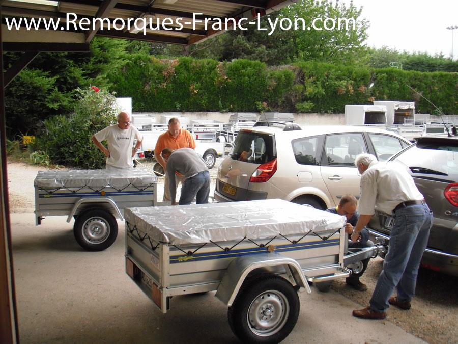 Remorques franc lyon limonest vente et location de remorques pose d 39 attelages - Location porte voiture lyon ...